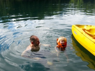 Swimming at Rainforest Camp