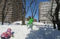 Snowbank Jumping