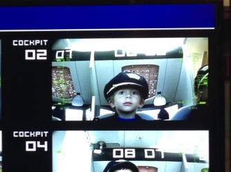 On the Flight Simulator Screen