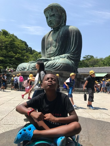 Sean at the Big Buddha in Kamakura (Courtesy of Chris)