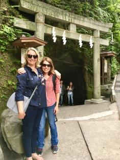 Missy and I Zeniarai Benten Shrine in Kamakura