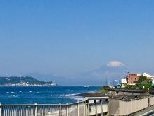 Fuji and Enoshima while driving to Izu