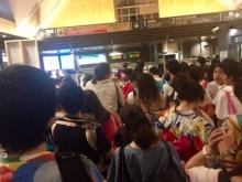 Kamakura Station after fireworks