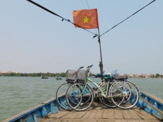 Ferry across Hoi An River